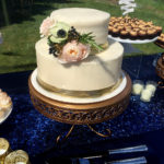 2 tiered cake with smooth texture