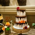 3 tiered cake with chocolate