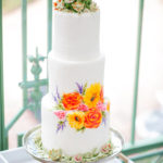 3 tiered cake with custom painting