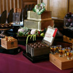 Cigar Box Display with wedding goodies