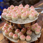 Mini Cupcakes at rustic wedding