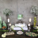 Seafoam Green and silver wedding
